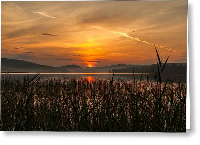 Sunset In Norway Greeting Cards - Memories Of A Sunset Greeting Card by Rose-Maries Pictures
