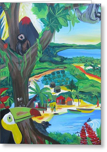 Memories Of Costa Rica Greeting Card by Kelly Simpson