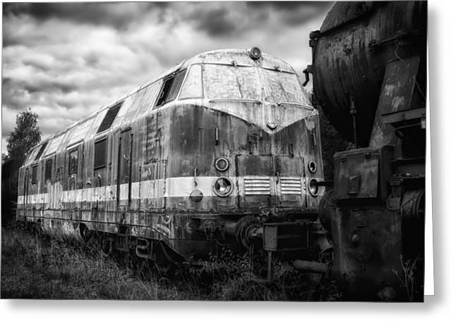 Train Yard Greeting Cards - Memories of Distant Travels Greeting Card by Mountain Dreams