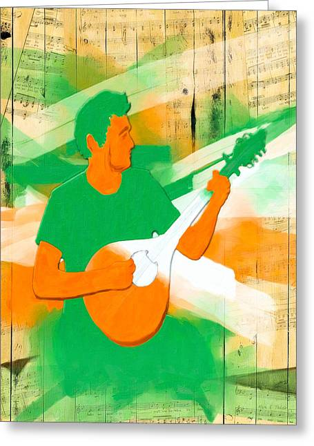 Playing Musical Instruments Digital Art Greeting Cards - Memories Of Irish Music Greeting Card by Mark Tisdale