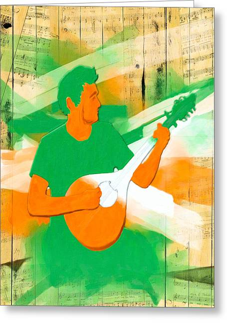 Playing Musical Instruments Greeting Cards - Memories Of Irish Music Greeting Card by Mark E Tisdale
