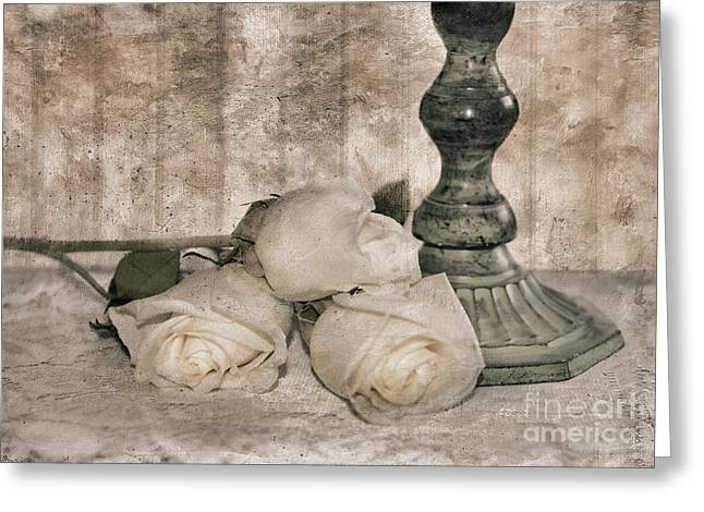 Three Roses Greeting Cards - Memories of Love Greeting Card by Betty LaRue