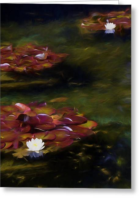 Lilly Pads Greeting Cards - Memories of Monet II Greeting Card by Marilyn Wilson