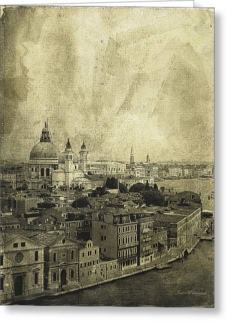 Grand Memories Greeting Cards - Memories of Old Venice Greeting Card by Julie Palencia