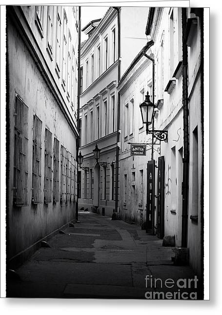 Old Street Greeting Cards - Memories of Prague Greeting Card by John Rizzuto