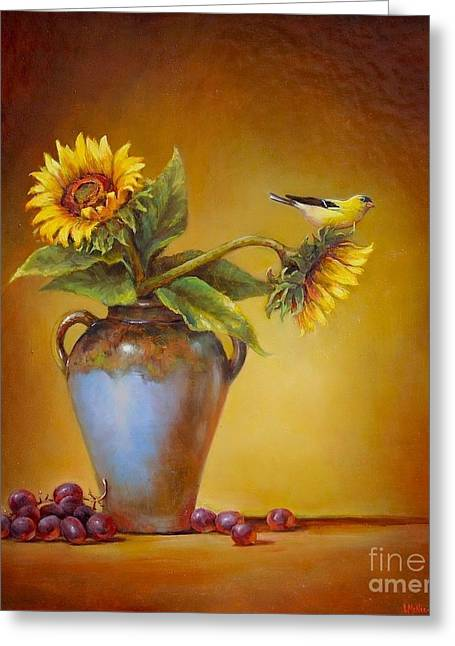 Pottery Greeting Cards - Memories of Summer Greeting Card by Lori  McNee