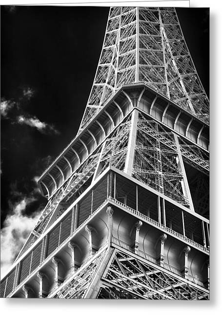 Memories Of The Eiffel Tower Greeting Card by John Rizzuto