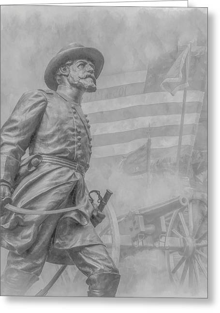 Statue Of Confederate Soldier Greeting Cards - Memories of the Gettysburg Battle Greeting Card by Randy Steele