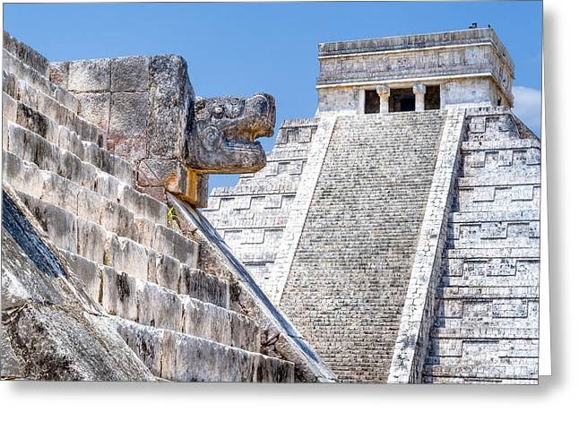 Historic Site Greeting Cards - Memories of the Maya at Chichen Itza Greeting Card by Mark Tisdale