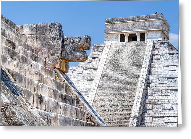 World Wonder Greeting Cards - Memories of the Maya at Chichen Itza Greeting Card by Mark E Tisdale