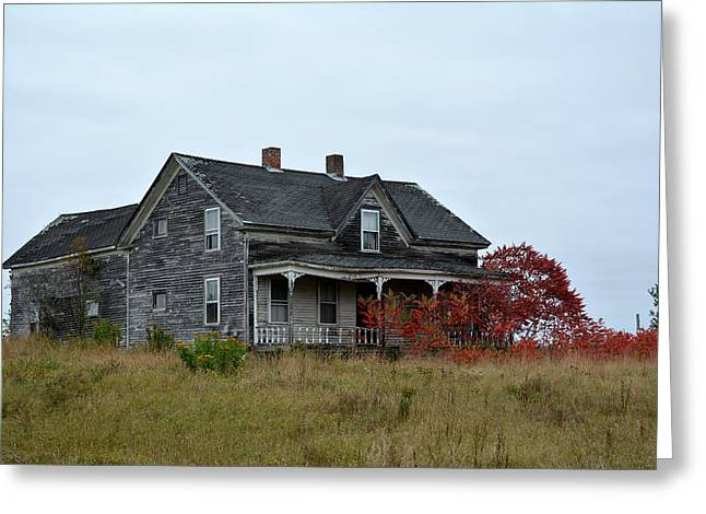 Old Maine Houses Greeting Cards - Memories of the past. Greeting Card by Gail Smith