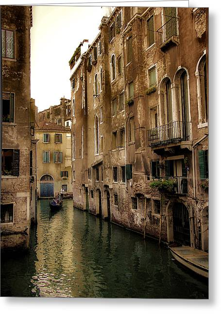 Julie Palencia Greeting Cards - Memories of Venice Greeting Card by Julie Palencia