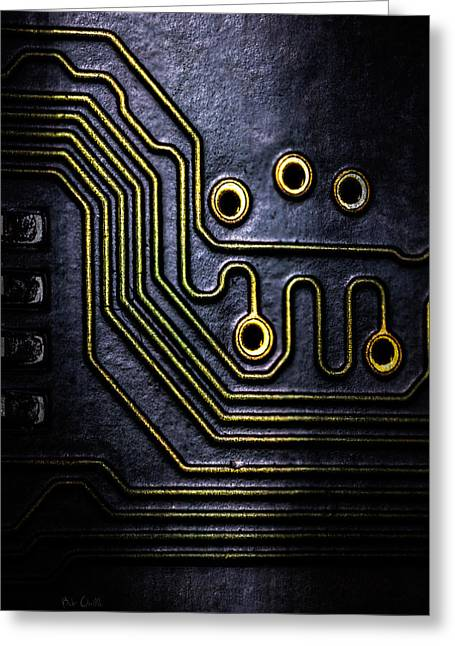 Memory Chip Number Two Greeting Card by Bob Orsillo