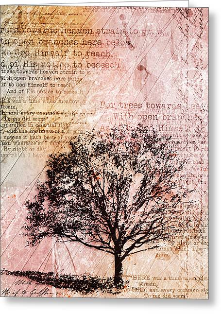Tree Art Greeting Cards - Memory Lane Greeting Card by Gary Bodnar
