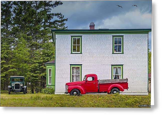 Charlotte Digital Art Greeting Cards - Memory Lane Greeting Card by Ken Morris