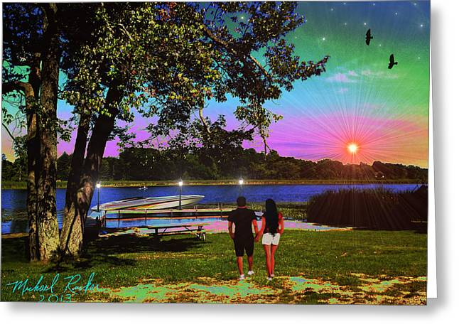 Will You Marry Me Greeting Cards - Memory Lane Greeting Card by Michael Rucker