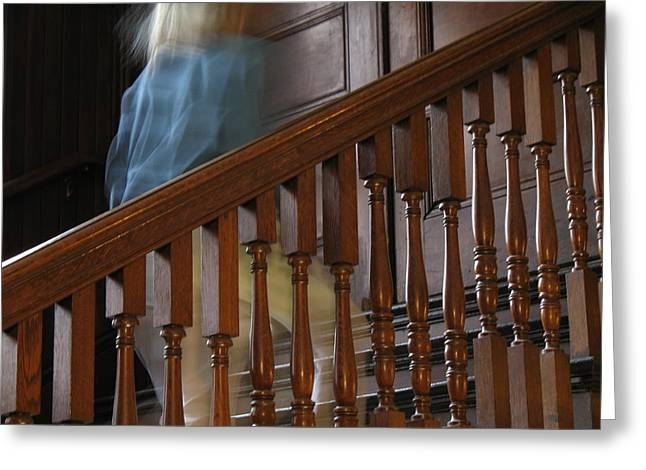 Wooden Stairs Greeting Cards - Memory of Her Greeting Card by Lynn-Marie Gildersleeve