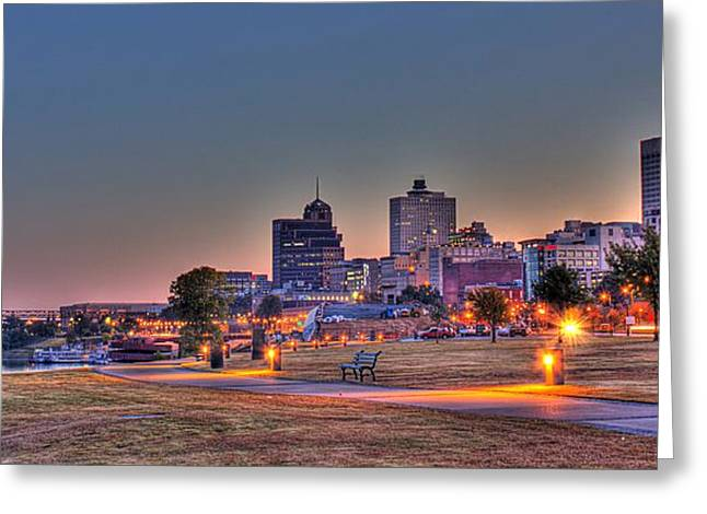 Cityscape - Skyline - Memphis At Dawn Greeting Card by Barry Jones