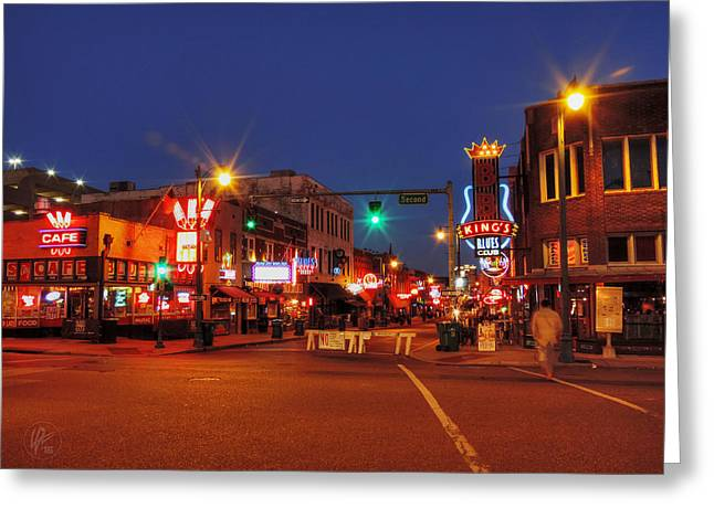 Memphis Tn Greeting Cards - Memphis - Beale St. Twilight 001 Greeting Card by Lance Vaughn