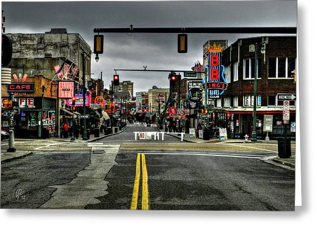 Rock N Roll Greeting Cards - Memphis - Beale Street 001 Greeting Card by Lance Vaughn
