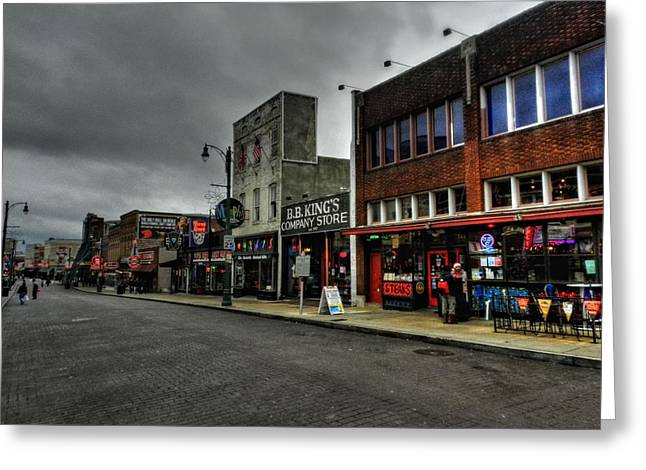 Memphis Tn Greeting Cards - Memphis - Beale Street 003 Greeting Card by Lance Vaughn