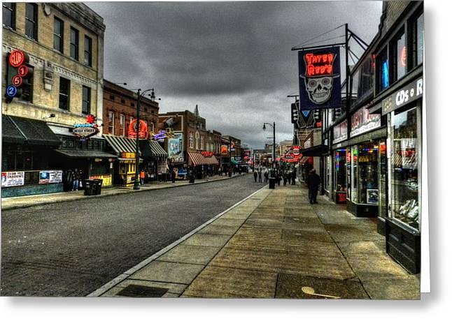Memphis Tn Greeting Cards - Memphis - Beale Street 004 Greeting Card by Lance Vaughn