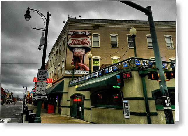 Memphis - Beale Street 006 Greeting Card by Lance Vaughn