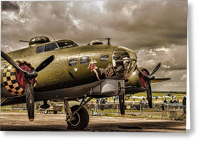 Belles Photographs Greeting Cards - Memphis Belle Greeting Card by Martin Newman
