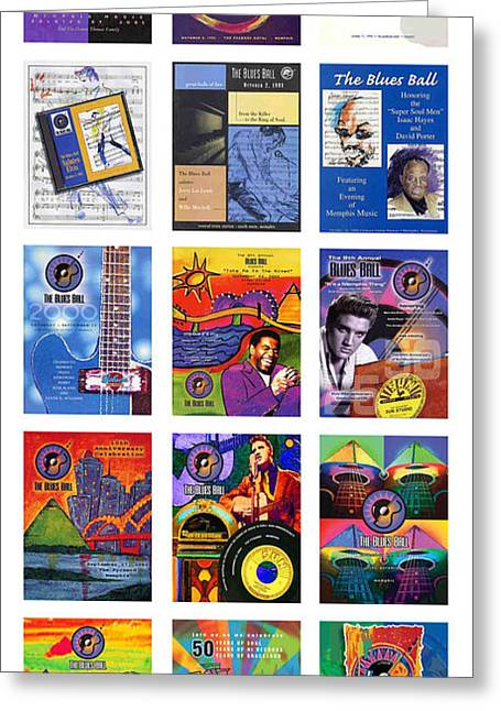 Balls Posters Greeting Cards - Memphis Blues Ball Posters Greeting Card by David Bearden
