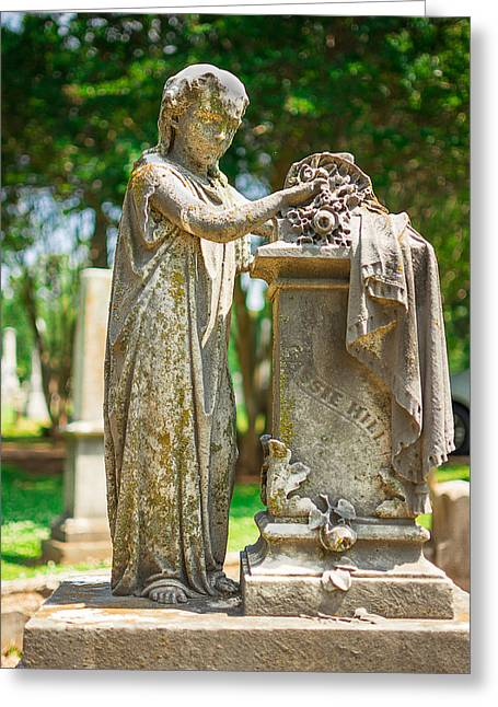 Memphis Elmwood Cemetery Monument - Cassie Hill Greeting Card by Jon Woodhams
