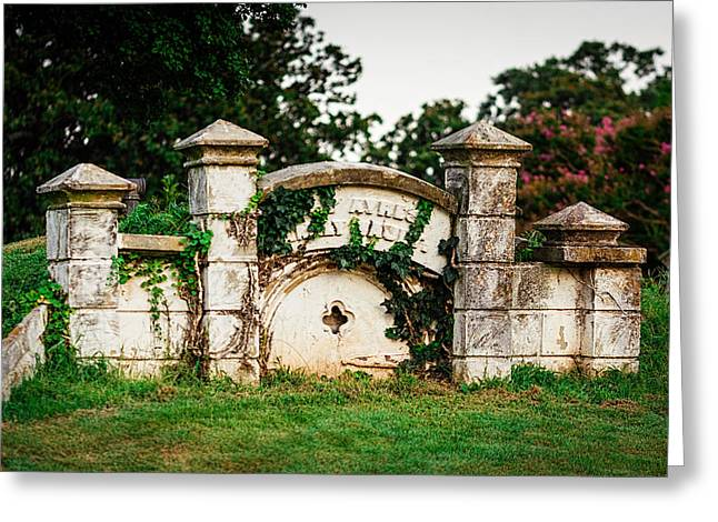 Confederate Monument Greeting Cards - Memphis Elmwood Cemetery - Ayres Family Vault Greeting Card by Jon Woodhams
