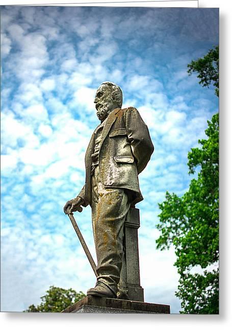 Memphis Elmwood Cemetery - Man With Cane Greeting Card by Jon Woodhams