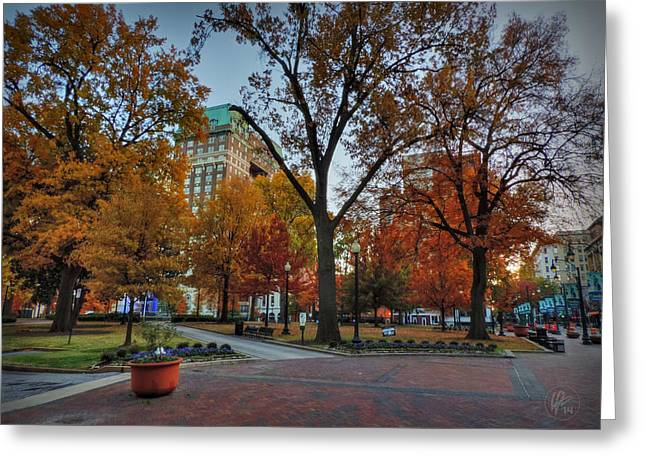 Memphis Tn Greeting Cards - Memphis Fall in Court Square 004 Greeting Card by Lance Vaughn