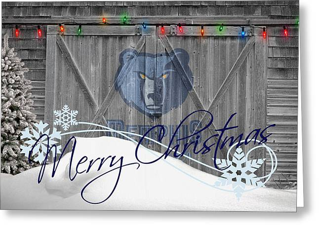 Basket Ball Greeting Cards - Memphis Grizzlies Greeting Card by Joe Hamilton