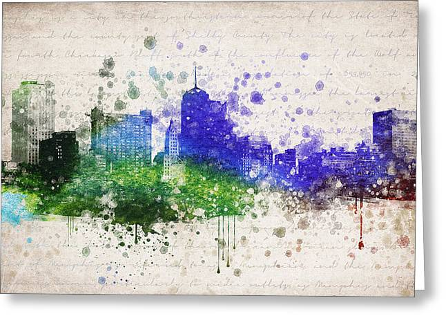 Memphis Tennessee Greeting Cards - Memphis in Color Greeting Card by Aged Pixel