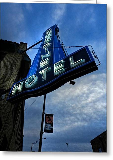 Reverend Greeting Cards - Memphis - Lorraine Motel 002 Greeting Card by Lance Vaughn