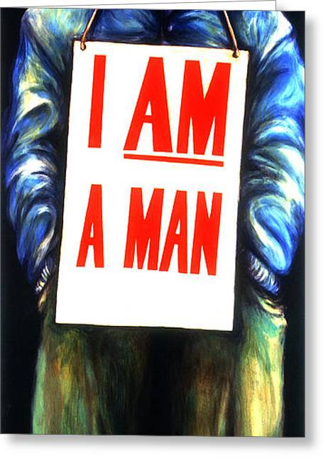 Discrimination Greeting Cards - Memphis sanitation Greeting Card by Cardell Walker