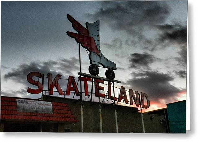 Memphis - Skateland 001 Greeting Card by Lance Vaughn