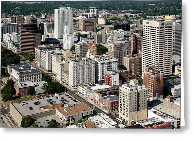 Leasing Greeting Cards - Memphis Skyline Greeting Card by Bill Cobb