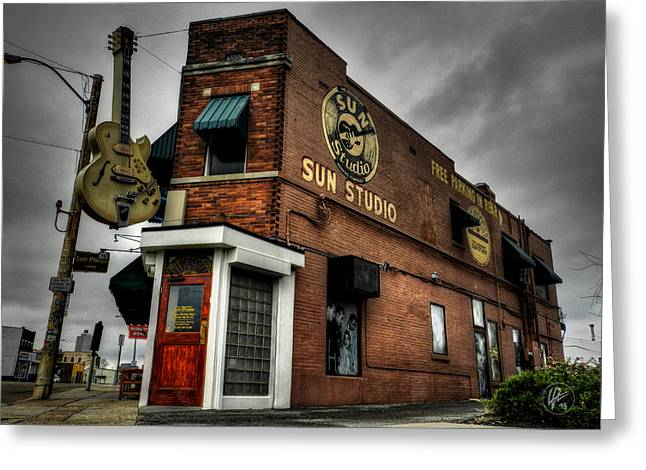 Vinyl Greeting Cards - Memphis - Sun Studio 001 Greeting Card by Lance Vaughn