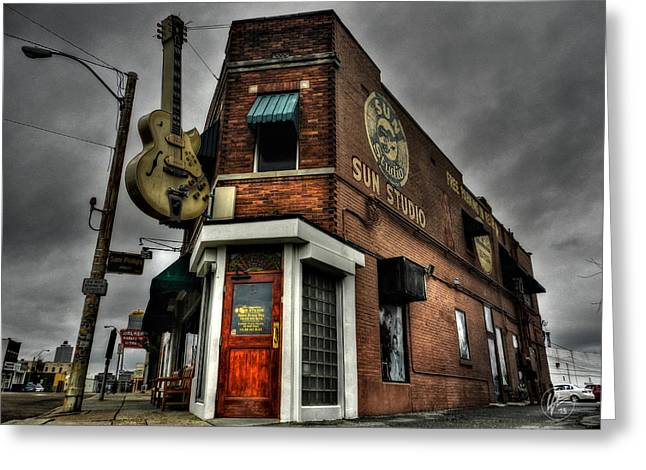 Rock Roll Greeting Cards - Memphis - Sun Studio 002 Greeting Card by Lance Vaughn