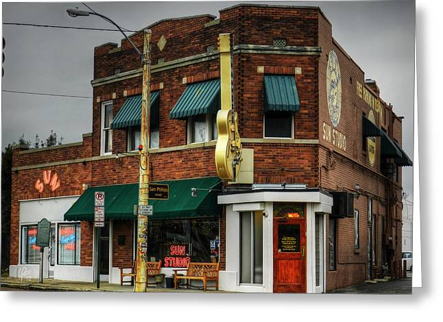 Tennessee Landmark Greeting Cards - Memphis - Sun Studio 003 Greeting Card by Lance Vaughn