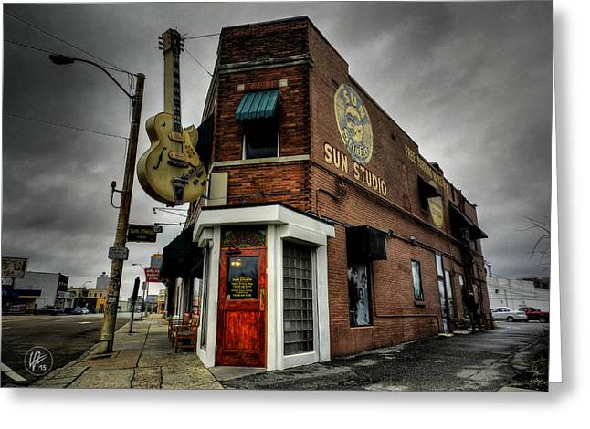 Tennessee Landmark Greeting Cards - Memphis - Sun Studio 004 Greeting Card by Lance Vaughn