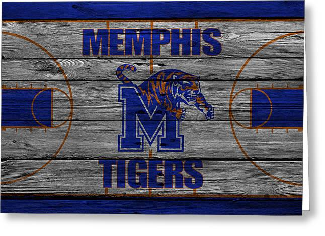 Dunks Greeting Cards - Memphis Tigers Greeting Card by Joe Hamilton