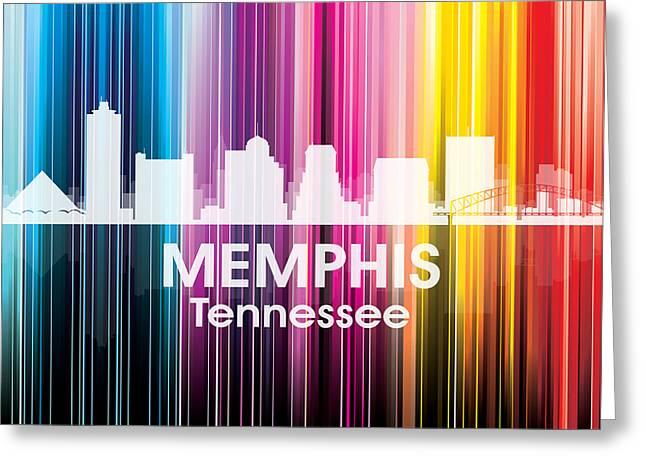 Tn Mixed Media Greeting Cards - Memphis TN 2 Greeting Card by Angelina Vick