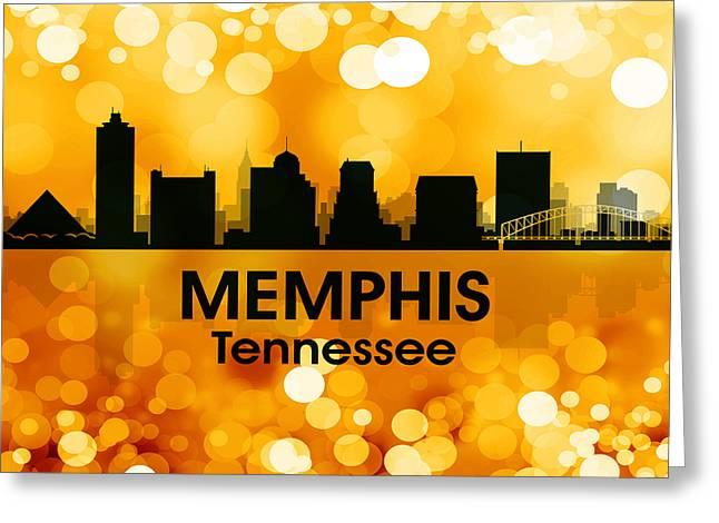 Tn Mixed Media Greeting Cards - Memphis TN 3 Greeting Card by Angelina Vick