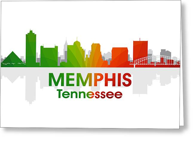Tn Mixed Media Greeting Cards - Memphis TN Greeting Card by Angelina Vick