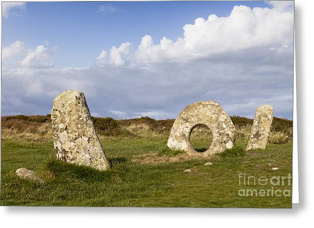 Megalith Greeting Cards - Men-an-Tol Cornwall Greeting Card by Colin and Linda McKie