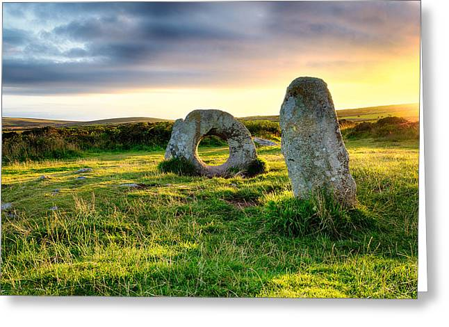 Kernow Greeting Cards - Men-An-Tol in Cornwall Greeting Card by Helen Hotson
