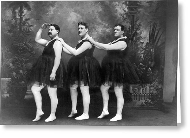 Men In Tights And Tutus Greeting Card by -